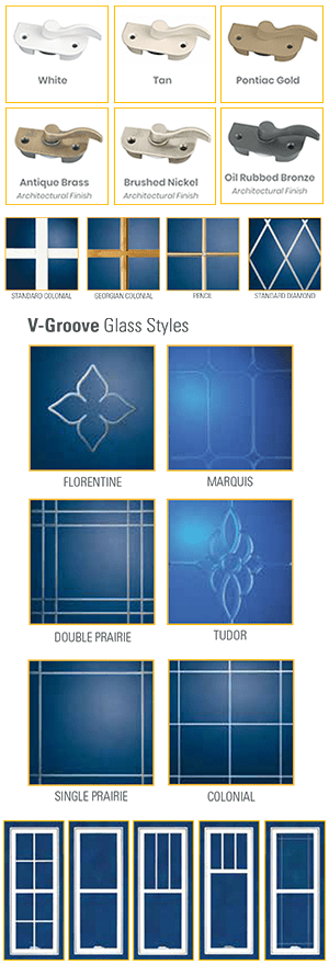 V-Groove Glass Style