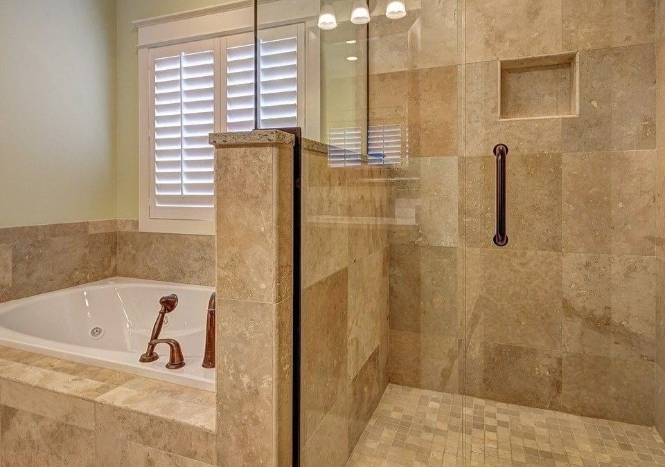 bathtub or shower